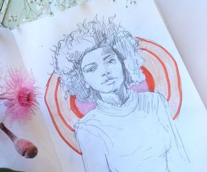 art, drawing, and journal image