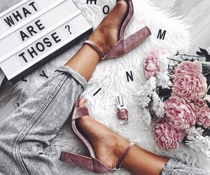 flowers, grey, and jeans image