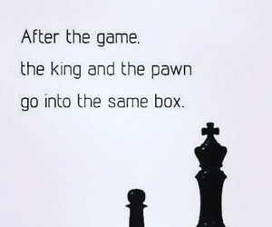 king, quote, and chess image