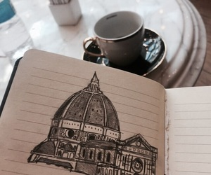 architecture, drawing, and note book image