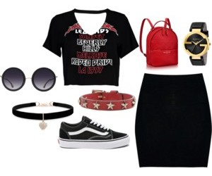 gucci, Louis Vuitton, and outfit image