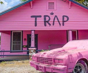pink, trap house, and trap image