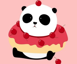 panda, cute, and pink image