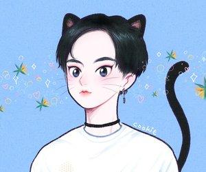 cat, fanart, and xiumin image