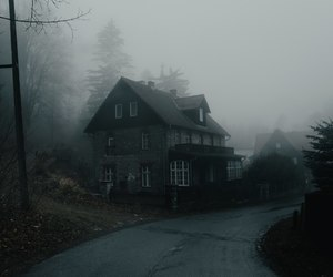 fog, house, and autumn image