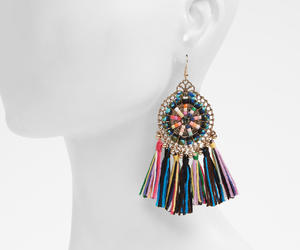 colorful, earrings, and fashion image