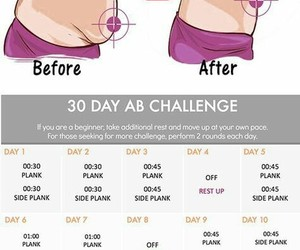 abdomen, fitness, and 30 day image