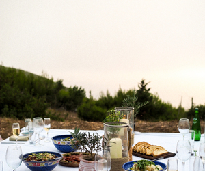 dinner, food, and Greece image