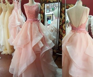 ball gown, evening dress, and lace image