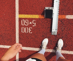 field, nike, and track image