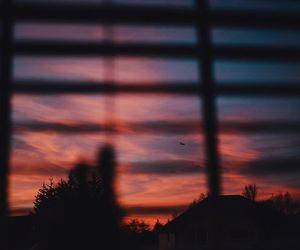 sunset and window image