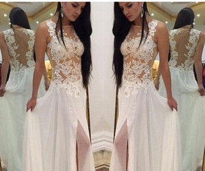 dresses, long prom dresses, and lace prom dresses image