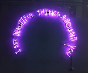 light, lights, and purple image