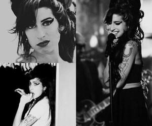 Amy Winehouse, b&w, and jazz image