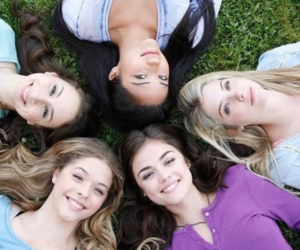 lucy hale, troian bellisario, and pll image