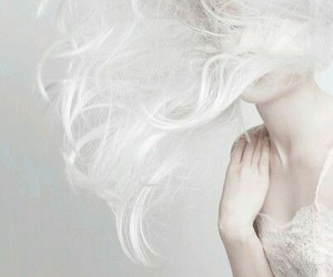 white, hair, and pale image