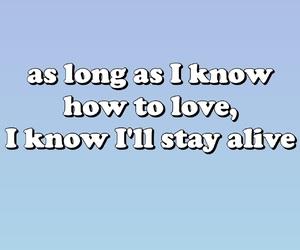 blue, gradient, and Lyrics image