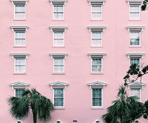 facade, pink, and places image