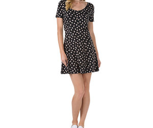 clothing, vans, and fit and flare dress image