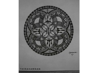 art, black and white, and doodle image