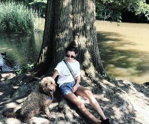eleanor calder and dog image