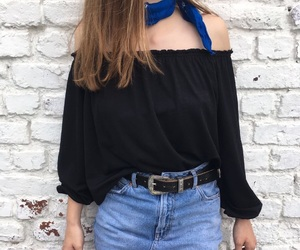 bandana, casual, and outfit image