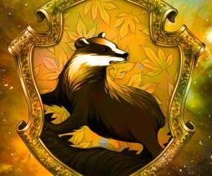 hogwarts, hufflepuff, and harry potter image