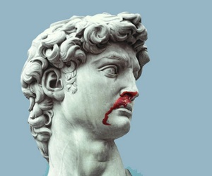 blood, statue, and art image