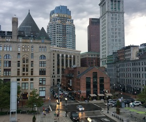 boston, city, and harbor image