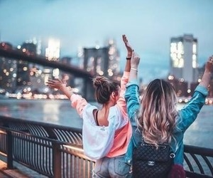 friends, city, and travel image