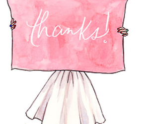 thanks, drawing, and pink image