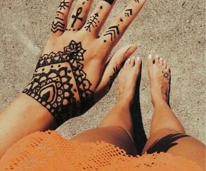tattoo, henna, and beautiful image