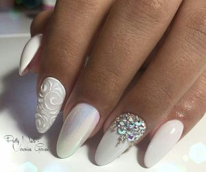 nail, weiss, and white image
