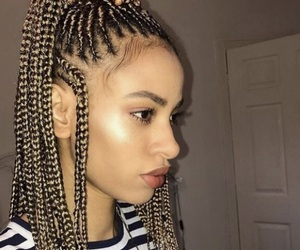 braids, hair, and instagram image