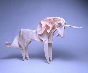 unicorn, origami, and Paper image