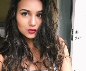 brown eyes, brown hair, and indian image