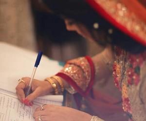 wedding, pakistani, and bride image