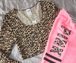 pink, leopard, and Victoria's Secret image