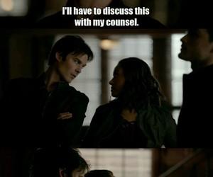 Bonnie, damon, and Vampire Diaries image