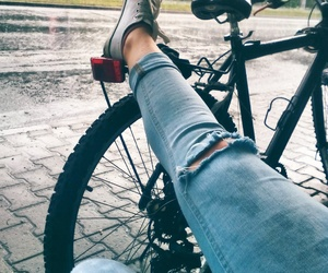 alone, bike, and converse image