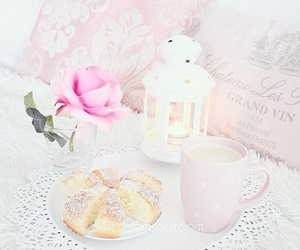 blush, decor, and flower image