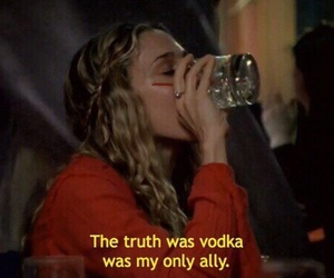 vodka, quotes, and sex and the city image