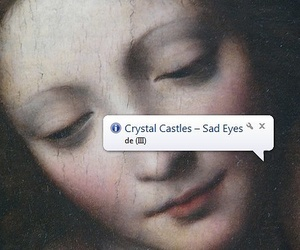 Crystal Castles, art, and sad eyes image