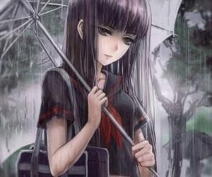 sad, anime, and rain image