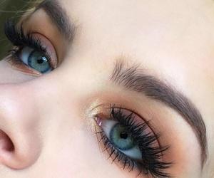 beauty, eyelash, and eyeshadow image