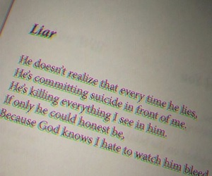quotes, liar, and sad image