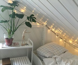 room, plants, and bed image