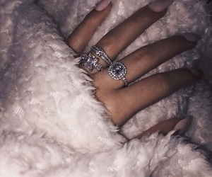 fur, ring, and girl image