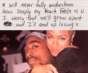 tupac, 2pac, and love image