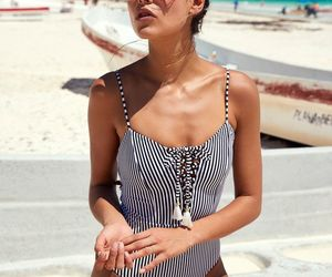 beach wear, swimsuit, and fashion image